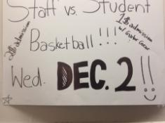 Staff vs Student basketball game (pre- game)