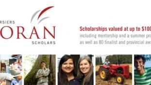 Congratulations Nicolas Ouellette! The Lorans Scholars Foundation