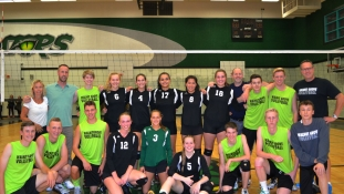 Senior Girls Volleyball Team First Home Win