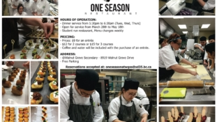 "WGSS' ""One Season"" Dinner Service – The VCC Program"
